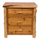 Three Drawer Chest Natural Cedar, Premium Product Image