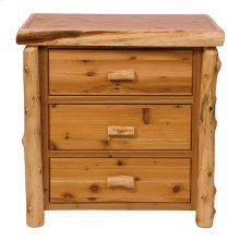 Three Drawer Chest Natural Cedar, Premium