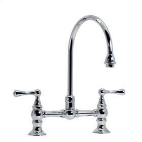 Highlands - Hi-Rise Exposed Gooseneck Kitchen Faucet - Brushed Nickel