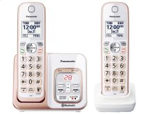 Link2Cell Bluetooth® Cordless Phone with Voice Assist and Answering Machine - 2 Handsets - KX-TGD562G