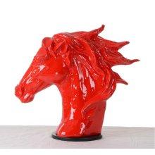 Modrest SZ0002 - Modern Red Horse Head Sculpture