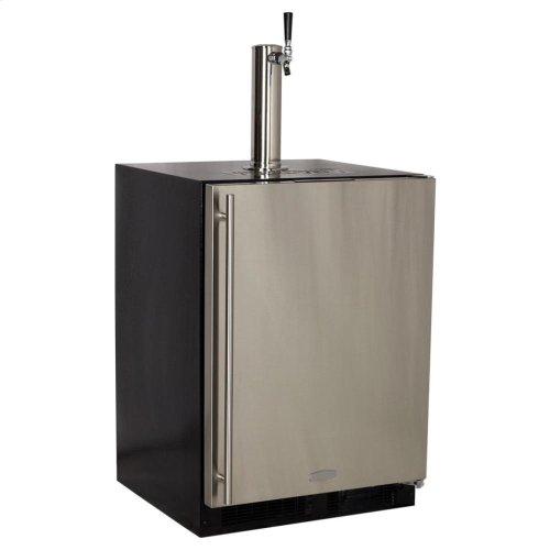 Built-In Indoor Single Tap - Marvel Refrigeration - Solid Black Door - Left Hinge