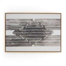Vibrate Print W/ Floating Oak Frame-jess
