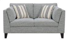 Loveseat W/2 Accent Pillows-gray #julian-1