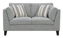 Loveseat W/2 Accent Pillows-gray #julian-1