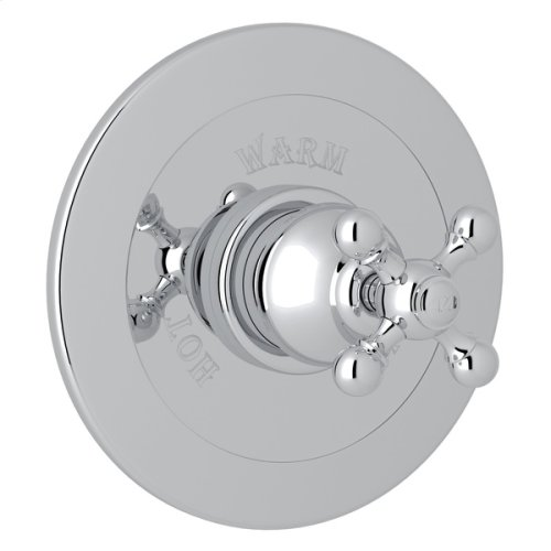 Polished Chrome Arcana Integrated Volume Control Pressure Balance Trim Without Diverter with Arcana Series Only Cross Handle