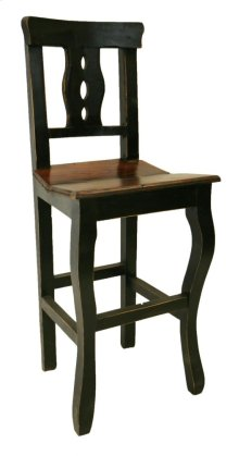 "24"" Black/Walnut Alis Barstool"