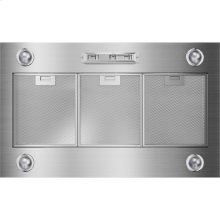 36-Inch Custom Hood Liner, Euro-Style Stainless Handle