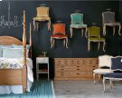 Primitive Bedroom With Flora Chairs Product Image