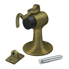 Cement Floor Mount Bumper w/ Holder, Solid Brass - Antique Brass
