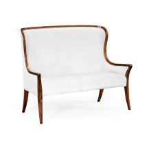 High Curved Back Upholstered Settee (COM)