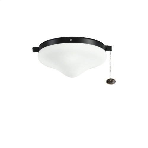 Outdoor Fan Light Kit Satin Black
