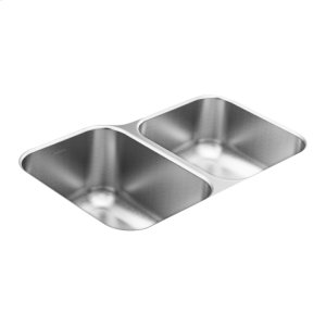 1800 Series 31.75 x 20.5 stainless steel 18 gauge double bowl sink