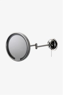 "Waterworks Wall Mounted 9 3/16"" dia. Magnifying and Illuminating LED Extension Mirror STYLE: WWMR14"
