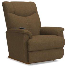 James PowerReclineXR® Reclina-Rocker® Recliner w/ Two-Motor Massage & Heat