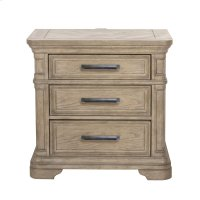Monterey 3 Drawer USB Charging Nightstand in Sandcastle Beige Product Image