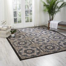 Caribbean Crb15 Ivory/charcoal Rectangle Rug 2'6'' X 4'