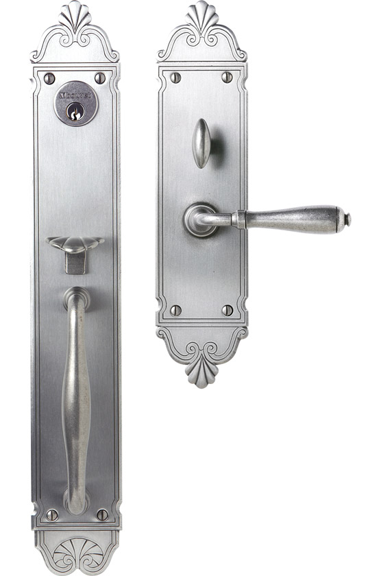"Mansart Entrance Handle Set - Complete single cylinder set for 2 1/4"" door"