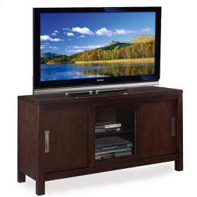 "Chocolate Oak 50"" Sliding Door TV Console"