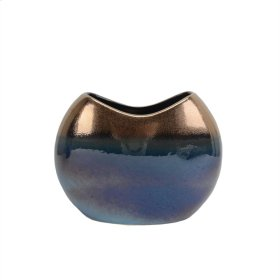 Copper/blue Ombre Vase 9.25""