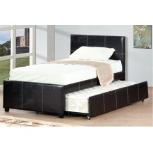 Espresso Twin Size Bed with Trundle