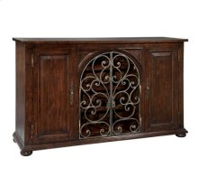Rustic Iron Wine Sideboard