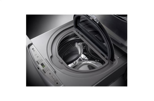 1.0 cu ft capacity SideKick Pedestal Washer, LG TWIN Wash Compatible - Graphite