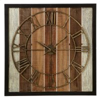 Framed Slat Wall Clock. Product Image