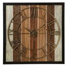 Framed Slat Wall Clock.