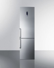 Counter Depth Frost-free Bottom Freezer Refrigerator In A Slim Fit, With A Factory-installed Icemaker, Stainless Steel Doors, and Digital Controls