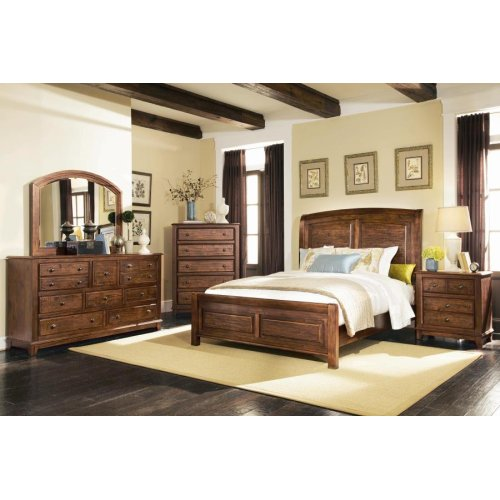 Laughton Rustic Brown California King Four-piece Set