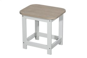 End Table-white Base W/natural Top