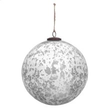 "10"" Classic Silver Ball Ornament"