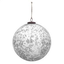 """10"""" Classic Silver Ball Ornament"""