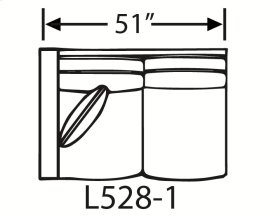 Sectional Component-One Arm Loveseat