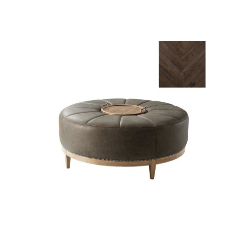 Chasen Cocktail Ottoman, Dark Echo Oak
