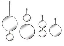 S/4 Hanging Silver Circle Mirrors