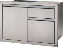 "36"" X 24"" Single Door & Waste Bin Drawer and Waste Bin Drawer , Stainless Steel"