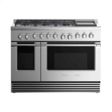 """Gas Range 48"""", 6 Burners with Griddle"""