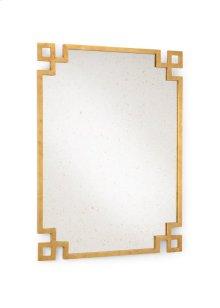 Parquetry Mirror - Gold