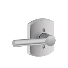 Broadway Lever with Greenwich trim Non-turning Lock - Satin Chrome