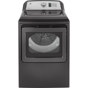 GE® 7.4 cu. ft. Capacity aluminized alloy drum Electric Dryer with HE Sensor Dry - DIAMOND GRAY