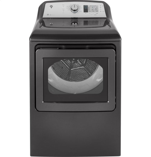 GE® 7.4 cu. ft. Capacity aluminized alloy drum Electric Dryer with HE Sensor Dry