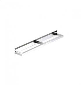 """AS160 - Side by Side Double Towel Bar 18"""" - Brushed Nickel"""