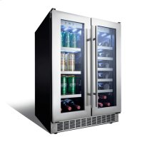 "Lorraine 24"" French door beverage centre."