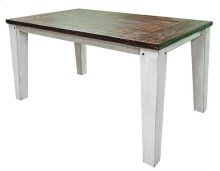 Weath White/coffeetop 5' Table