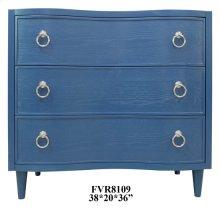 Hawthorne Estate Blue Curved Drawer Chest