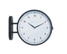 Black Metal Mod 2-Sided Wall Clock