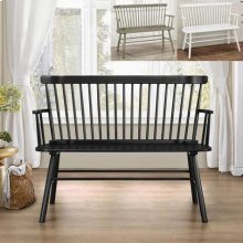Jerimiah Spindleback Bench Black