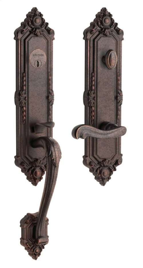Distressed Venetian Bronze Kensington Handleset